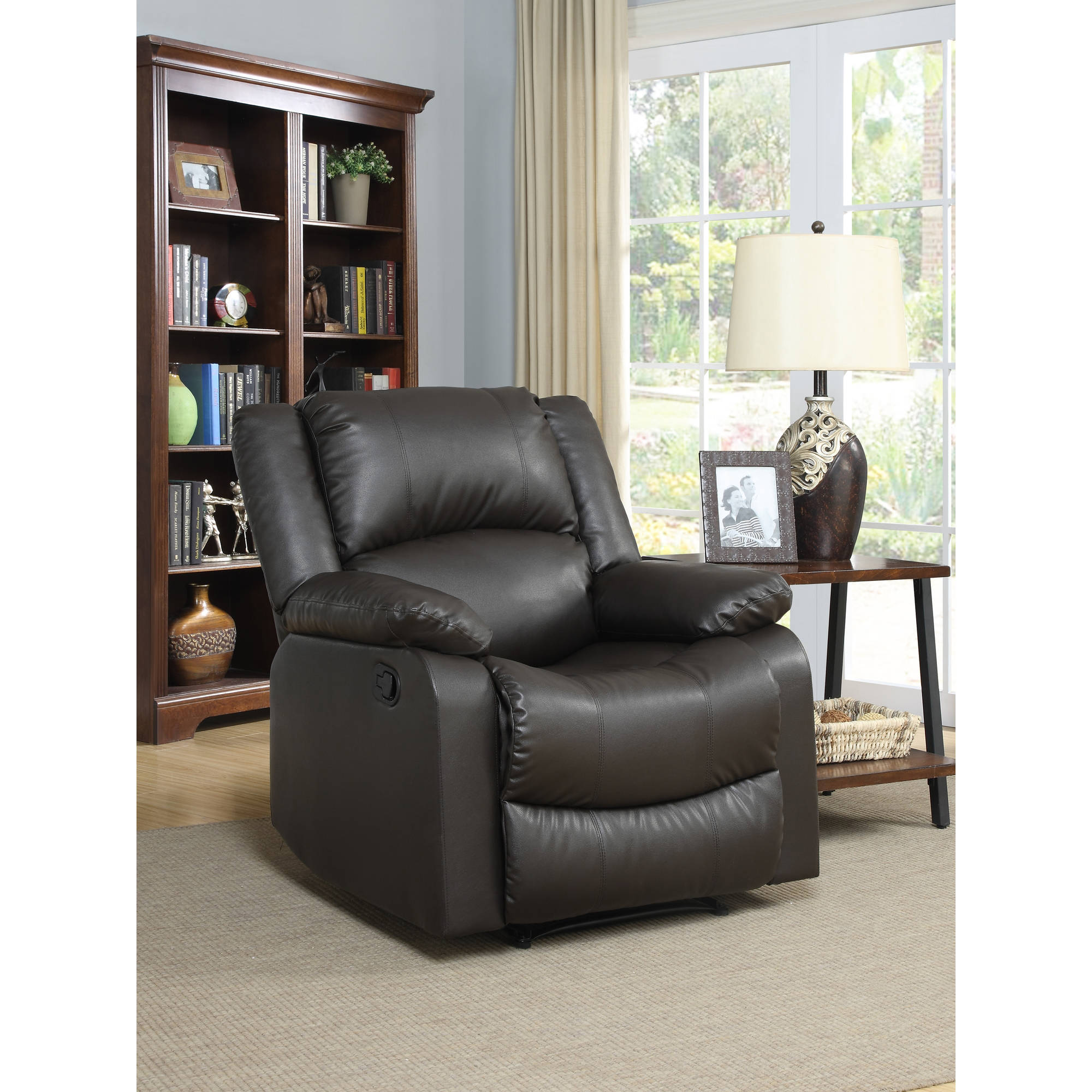 Warren Recliner Single Chair in Java Leather