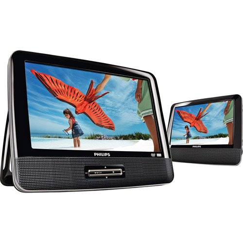 "Philips USA 9"" Dual Widescreen Portable DVD Player Refurbished"