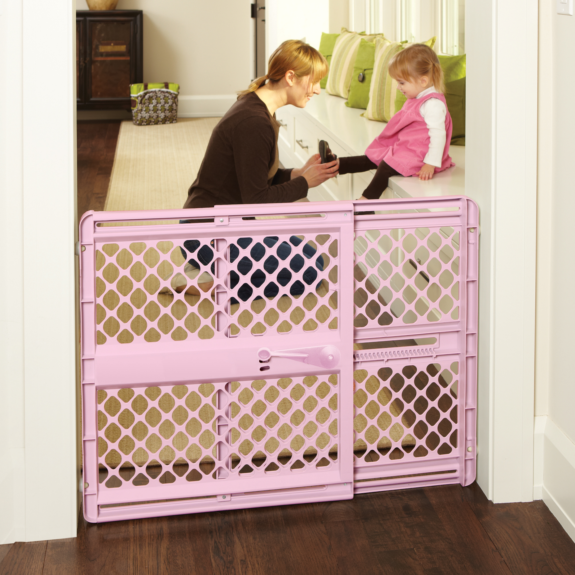North States Supergate Classic Navy Easy Use Baby Gate, 26''-42''