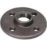 """B & K 521-608BG Black Iron Floor Flange, 2"""" FIP"""