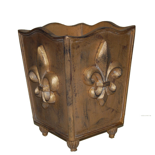 Hickory Manor House Fleur de Lis Waste Basket