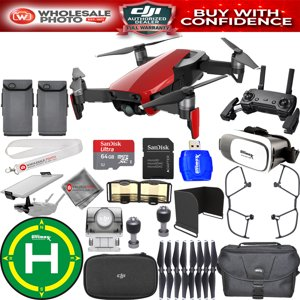 DJI Mavic Air (Flame Red) 2 BATTERY EXTREME PRO BUNDLE IN STOCK