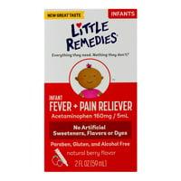 Little Remedies Infant Fever Pain Reliever, Berry Flavor, 2 oz