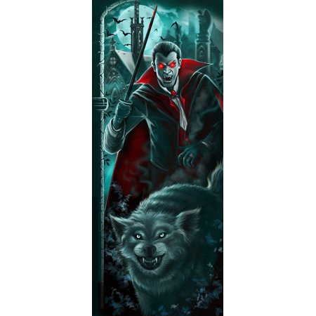 Halloween Lights & Sounds Halloween Door Panel - Dracula (The Best Halloween Sound Effects)