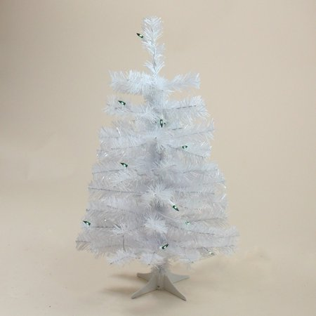 Northlight White Tinsel Artificial Pre-Lit Slim Christmas Tree (Lit Laser Tinsel Christmas Tree)