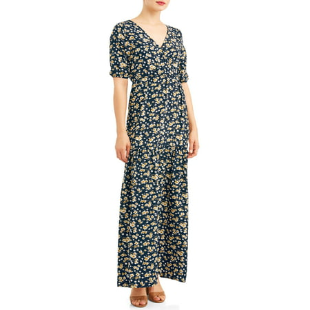 Women's Printed Maxi Dress (Belle Dress For Sale)