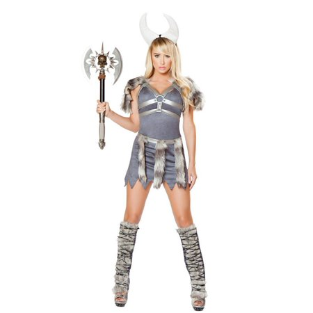 Sexy Women's 4pc Sexy Gray Nordic Viking Costume (S)](Nordic Costumes)