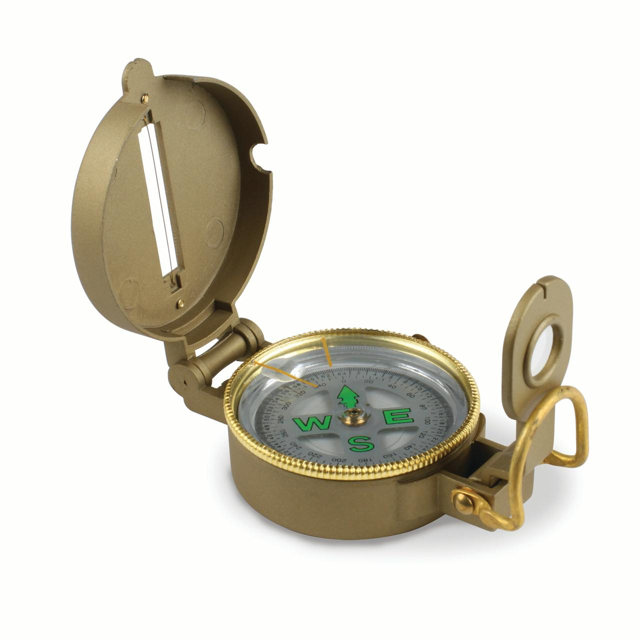 Stansport Liquid-Filled Metal Lensatic Compass by Stansport