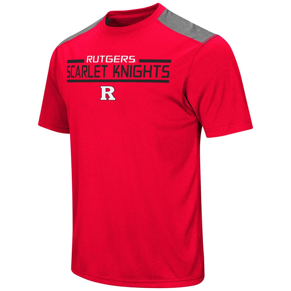 Mens NCAA Rutgers Scarlet Knights Short Sleeve Tee Shirt (Team Color)