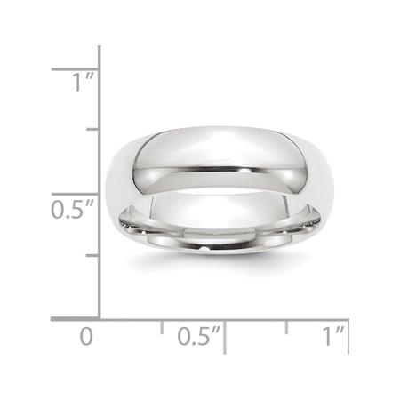 USA - Platinum 8mm Half-Round Comfort Fit Lightweight Band - image 1 of 2