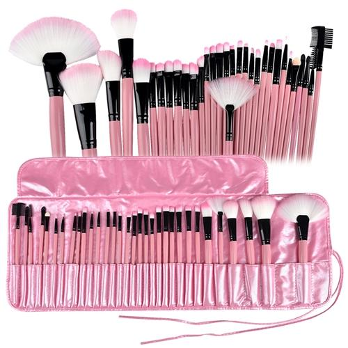Zodaca 32 pcs Makeup Brushes Superior Kit Set Powder Foundation Eye shadow Eyeliner Lip with Pink Cosmetic Pouch Bag