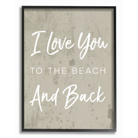 - Stupell Industries 'I Love You To The Beach and Back' Textural Art