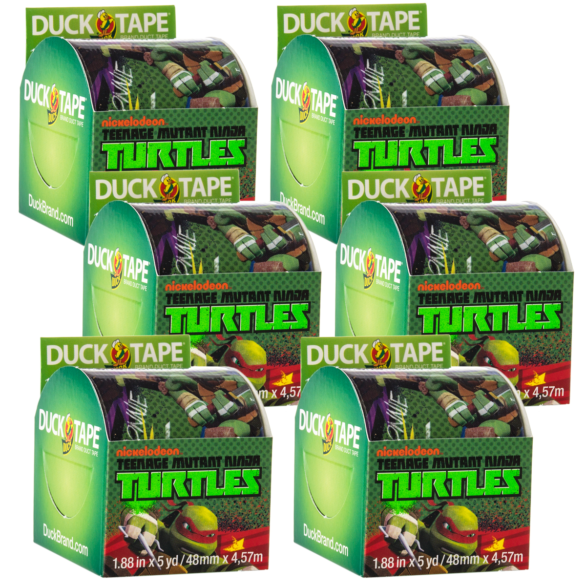 Duck Brand 6 Rolls Teenage Mutant Ninja Turtles Duct Tape Cartoon Crafts 30yds