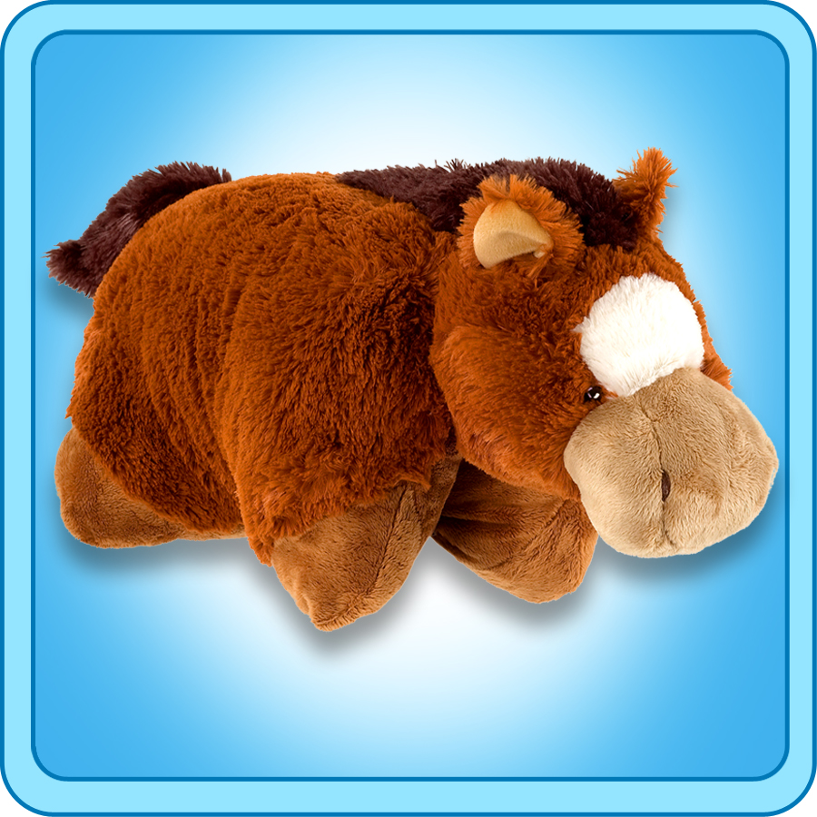 "Authentic Pillow Pets Sir Horse Large 18"" Plush Toy Gift"