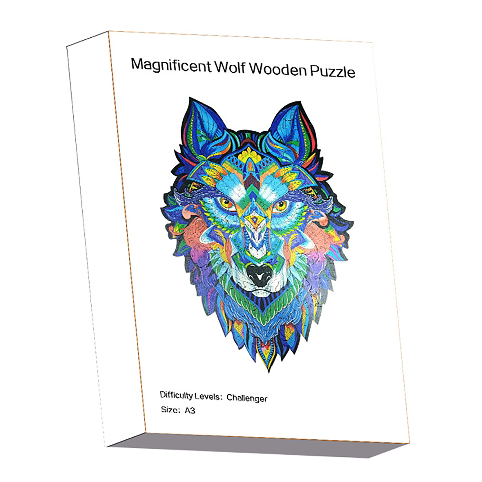 Puzzle Wolf Wooden Puzzles Adult Kids Educational Puzzle Adults Gift New 2020