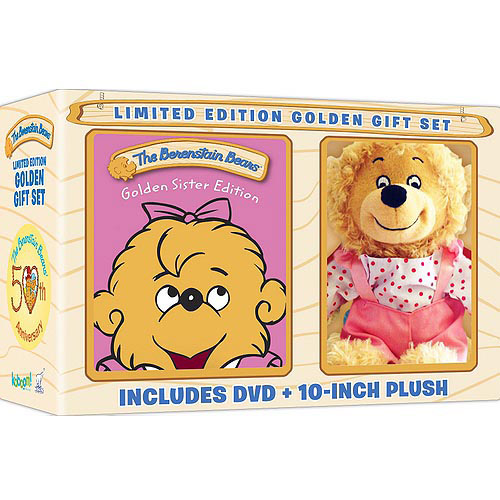 The Berenstain Bears Golden Sister Edition (Limited Edition Golden Gift Set) (DVD + 10-Inch Plush) (Walmart Exclusive)