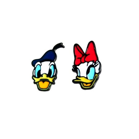 Donald Daisy Duck Enamel Post Stud - Donald And Daisy Duck Halloween