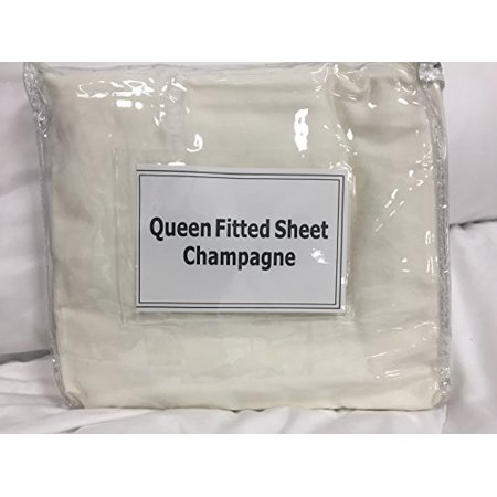 Sheet Set Champagne - Koni Fitted Sheet, Queen, Champagne Ivory 60X80X15