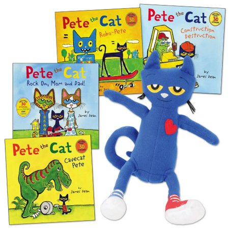 Pete the Cat Doll and 4 Paperback Book Set](Pete The Cat Doll)