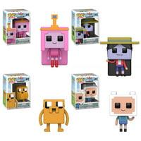 Funko POP! Animation - Adventure Time Minecraft Vinyl Figures - SET OF 4 (Finn, Jake, Marceline & Pr