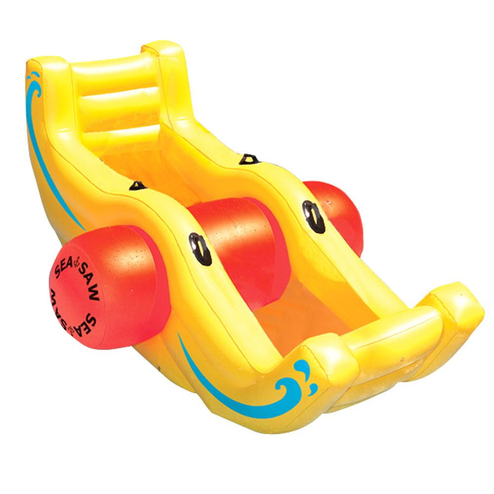 New Swimline 9058 Swimming Pool Inflatable Sea-Saw Rocker See-Saw Float Lounge by Swimline