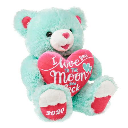 """Way To Celebrate 2020 Sweetheart Teddy Bear, Mint, 19"""""""