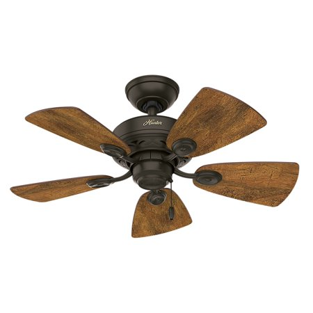 Hunter 34 watson new bronze ceiling fan with light walmart aloadofball Image collections