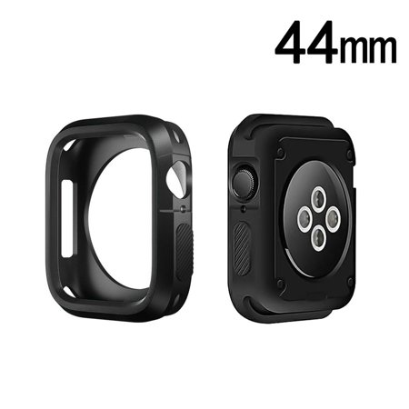 Apple Watch Series 4 44mm Case Screen Protector, by Insten iwatch accessories TPU Gel Transparent Protective Case Cover For Apple Watch Series 4 (Transparent Protector Case)