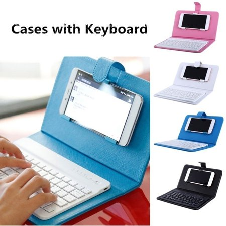 Portable Bluetooth Keyboard Case Mobile Phone Wireless Keyboard Pu Leather Protective Cover Walmart Canada