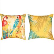 Manual Woodworkers and Weavers SLPPRD Polly Parrot Duo Climaweave Pillow Reversible 18 X 18 in.