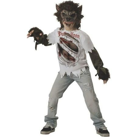 Morris Costumes Boys Realistic Vinyl Chinless Werewolf Costume 10, Style IC17015LG](Realistic Nightwing Costume)