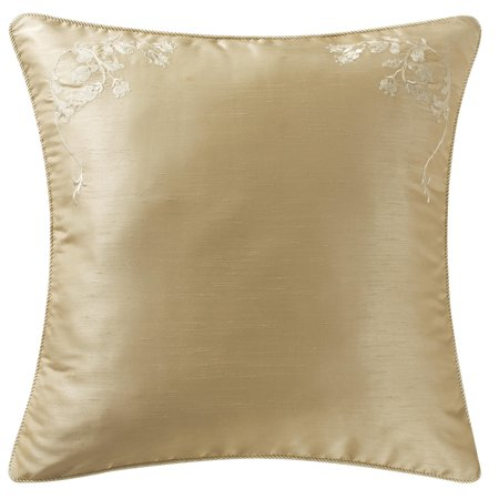 Marquis by Waterford Isabella Gold silk Floral with delicate floral embroidery Euro Sham ()