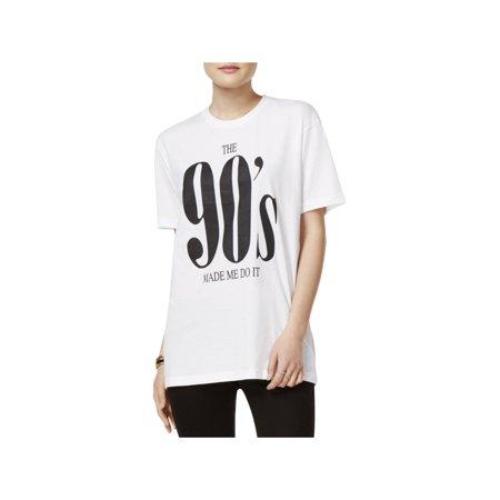 Kid Dangerous Womens 90's Crew Neck Short Sleeves Graphic T-Shirt
