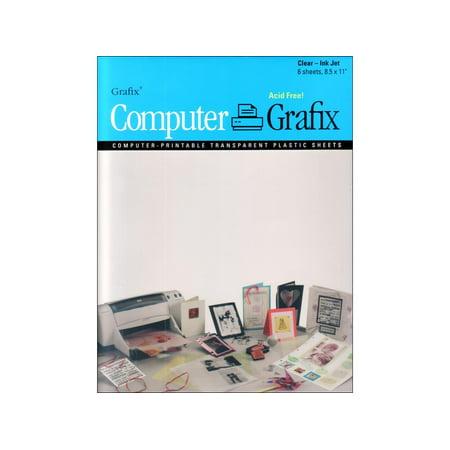 Grafix Computer Transparent Film Ink Jet 8.5x11