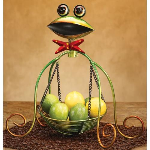 """15"""" Suspended Table Top Basket with Spring Motion Friendly Frog Face"""