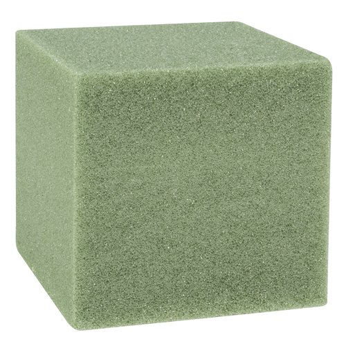 "8"" Styrofoam Cube, Green"