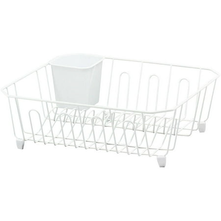 real home small dish drainer white. Black Bedroom Furniture Sets. Home Design Ideas