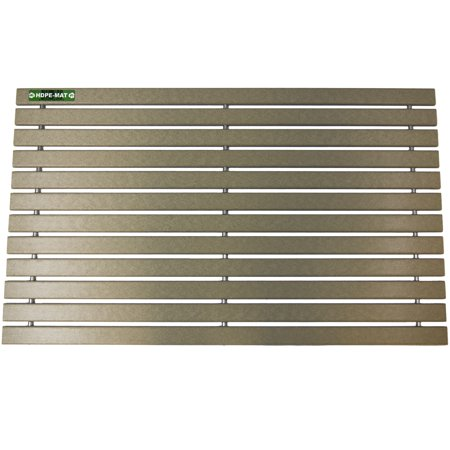 Hazelwood Brown UV Resistant HDPE Mat | Heavy Duty Waterproof Front Door Mat | Stylish Handcrafted Recycled Plastic Poly Lumber Slats - Eco Friendly For Outdoor Entrance Patio Garage Entry (Recycled Lumber)