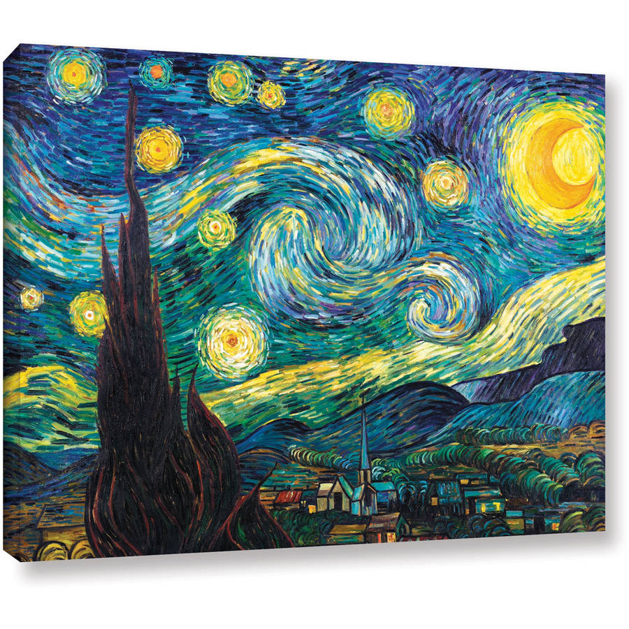 """ArtWall Vincent van Gogh """"Starry Night"""" Wrapped Canvas"""