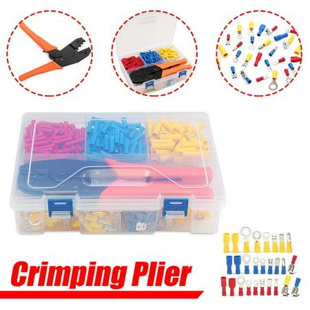 Crimper Plier Set, Self-Adjustable Wire Crimping Tools Wire Crimping Terminals Sets Wire Cable Tube Terminals - image 7 de 7