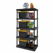 "HART 5 Tier 24"" x 36"" x 72"" Heavy-Duty Plastic Ventilated Shelf for Storage & Organization"