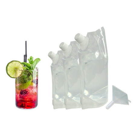 Sneak Your Alcohol Cruise Liquor Flask Kit with Funnel (3 FLASK