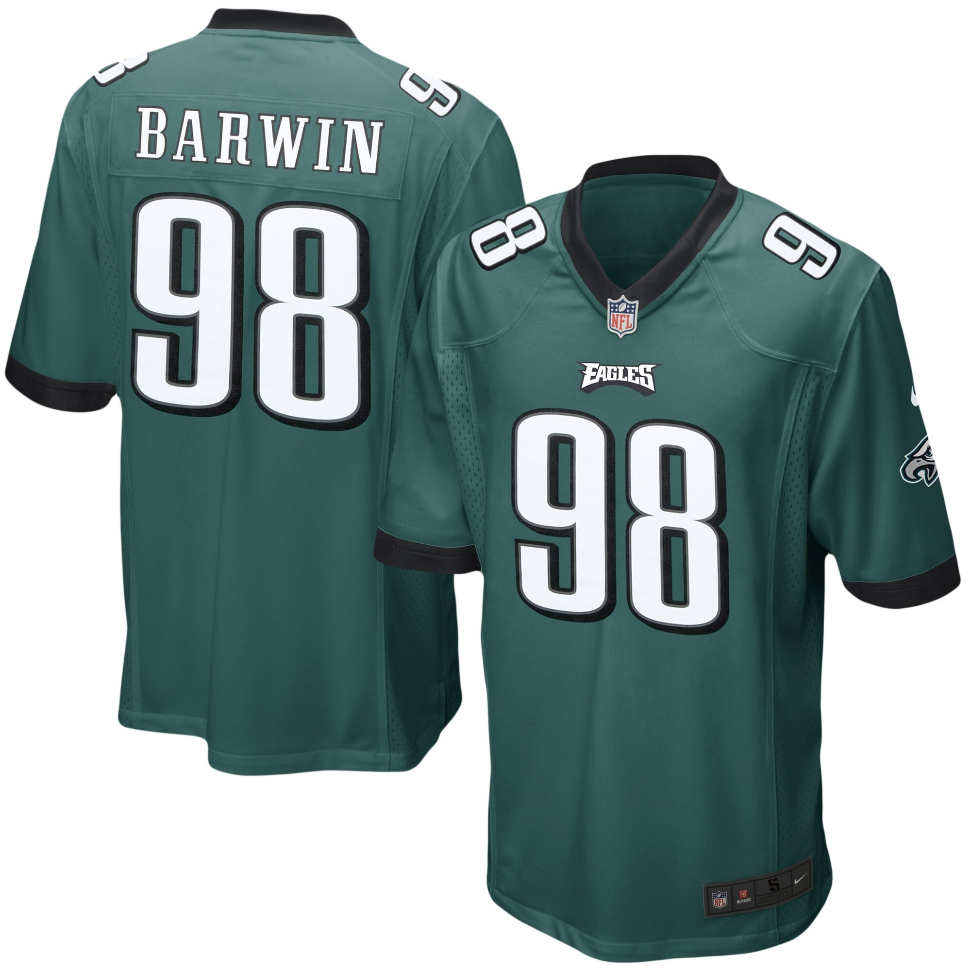 Connor Barwin Philadelphia Eagles Nike Youth Team Color Game Jersey - Midnight Green - Walmart.com