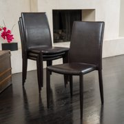 Christopher Knight Home Comstock Bonded Leather Stackable Dining Chair (Set of 4) by