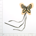 Expo Int'l Butterfly Faux Suede with Fringe Applique