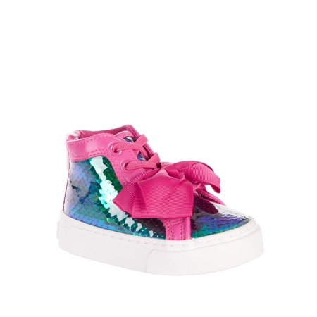 Girls High Sneakers (Jojo Siwa Toddler Girls' Mermaid Reverse Sequin High Top)