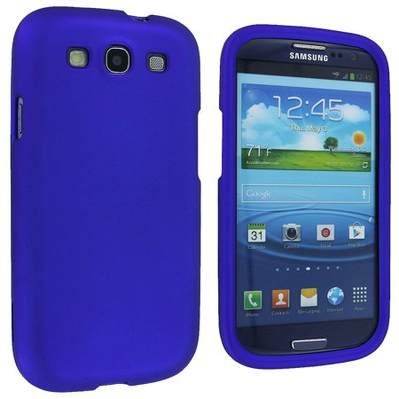 Blue Snap-On Hard Case Cover for Samsung Galaxy (Best Cover For Galaxy S3)
