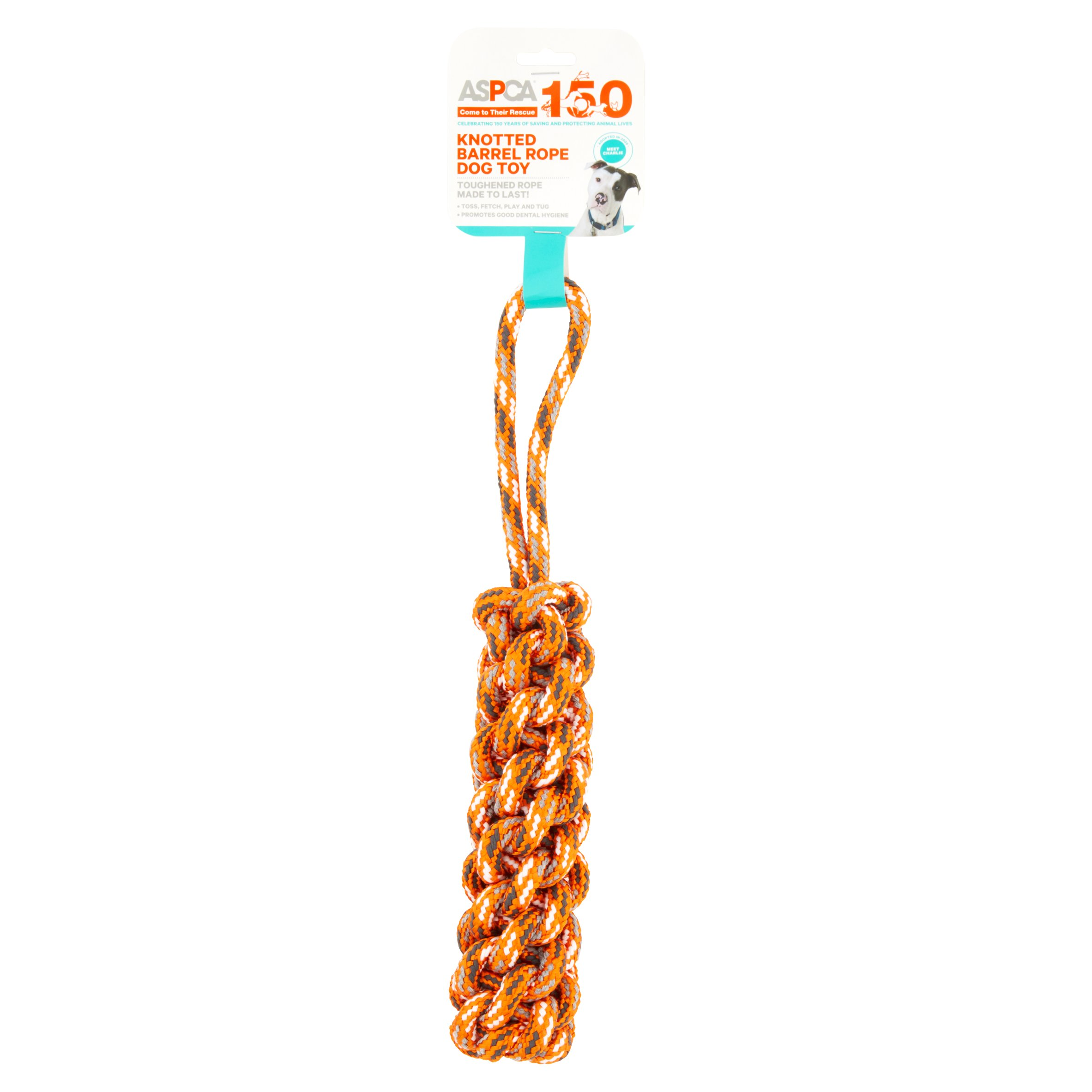 ASPCA Blue Knotted Barrel Rope Dog Toy by European Home Designs, LLC