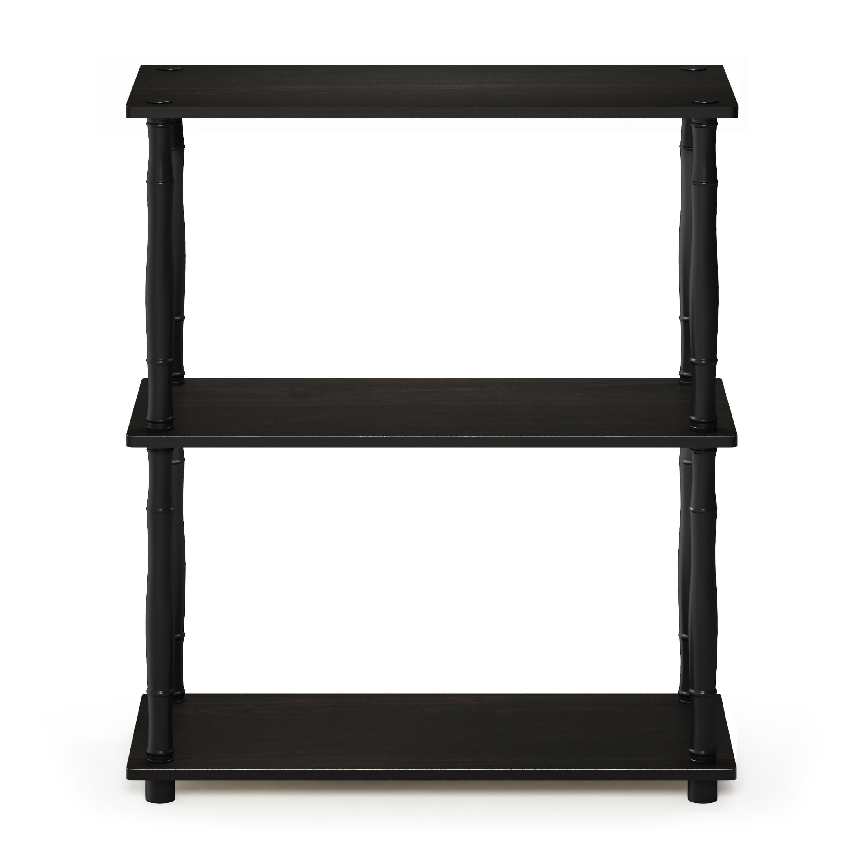 Furinno Turn-N-Tube 3-Tier Compact Multipurpose Shelf Display Rack with Classic Tube, Espresso/Black - image 1 de 4