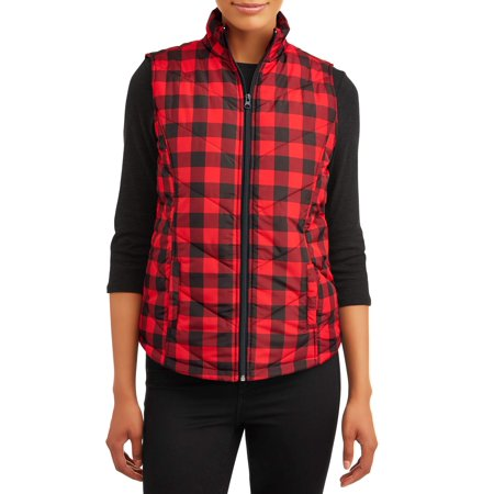 Jason Maxwell Women's Plaid Zip Up Vest ()